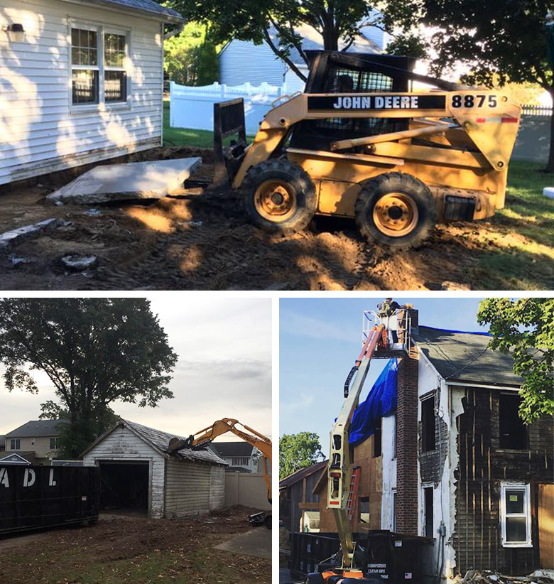 Monmouth County Demolition services removing old debris