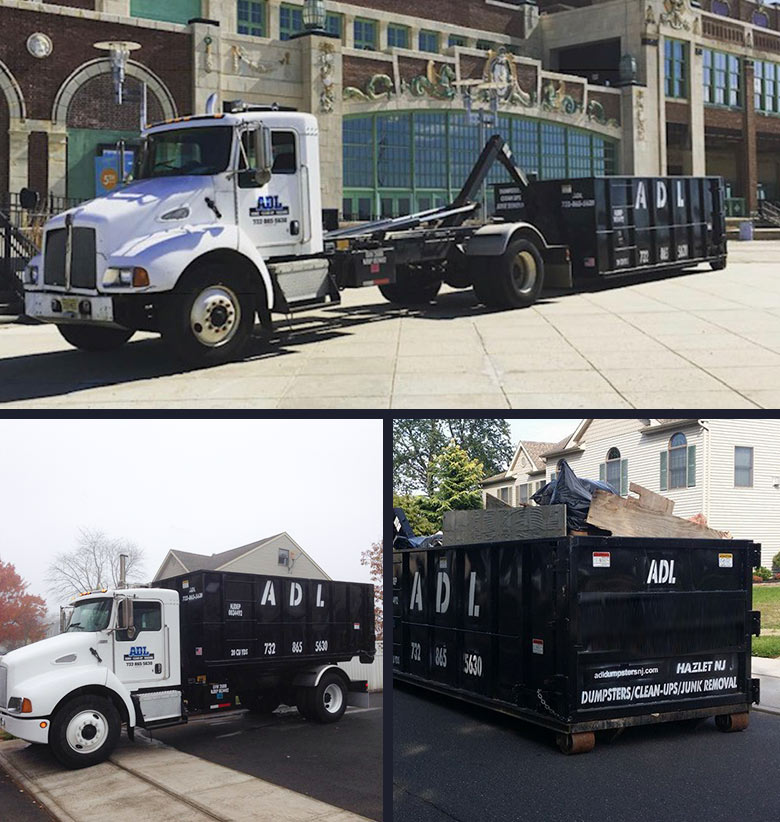 Monmouth County dumpsters hauling carting lifting and moving dumpsters
